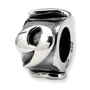 Sterling Silver Reflections Number 9 Message Bead