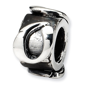 Sterling Silver Reflections Letter O Message Bead