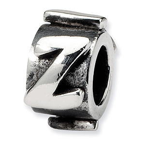 Sterling Silver Reflections Letter Z Message Bead