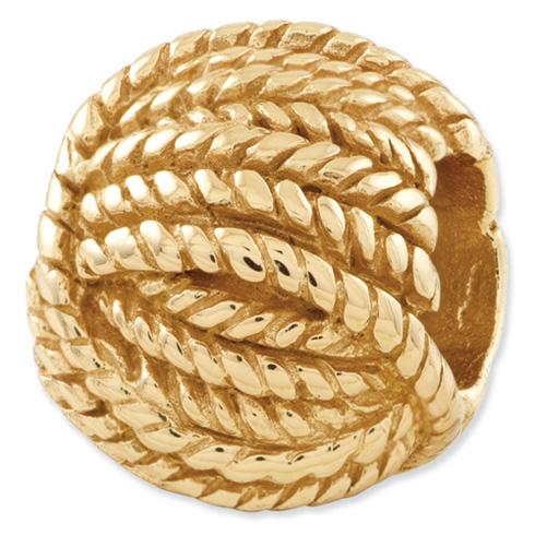 Sterling Silver Gold-plated Reflections Ball of Yarn Bead