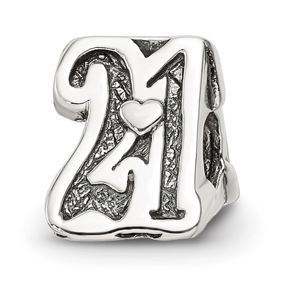 Sterling silver Reflections Sweet 21 Bead