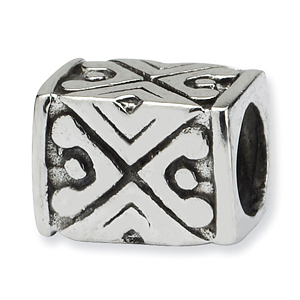 Sterling Silver Reflections Tribal Design Bali Bead
