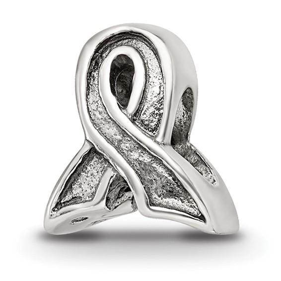 Sterling Silver Reflections Awareness Ribbon Bead