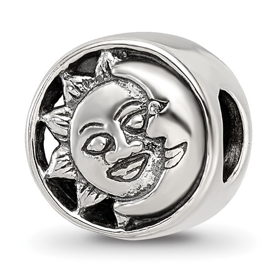 Sterling Silver Reflections Sun Moon Bead