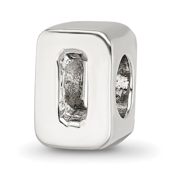 Sterling Silver Reflections Numeral 0 Bead