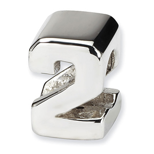 Sterling Silver Reflections Numeral 2 Bead