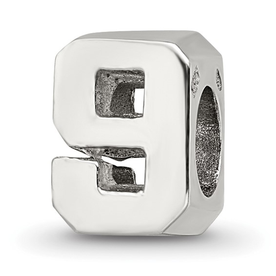 Sterling Silver Reflections Numeral 9 Bead