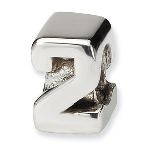 Sterling Silver Reflections Kids Numeral 2 Bead