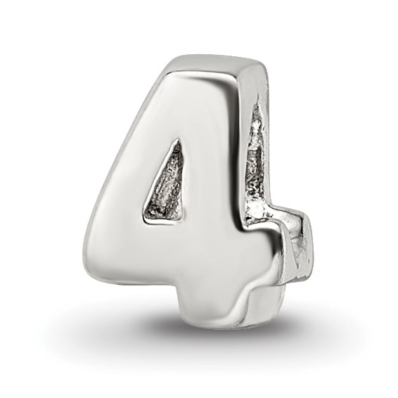 Sterling Silver Reflections Kids Numeral 4 Bead