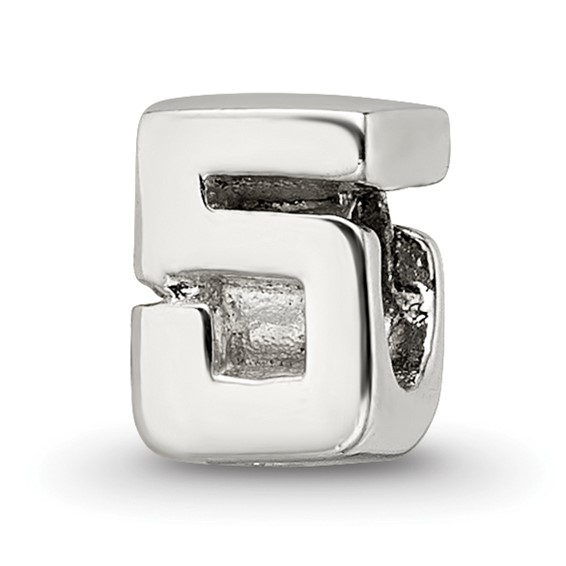 Sterling Silver Reflections Kids Numeral 5 Bead
