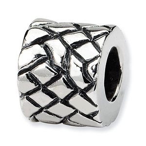 Sterling Silver Reflections Basket Weave Bali Bead