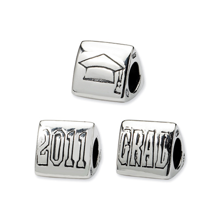 Sterling Silver Reflections Grad 2011 Trilogy Bead