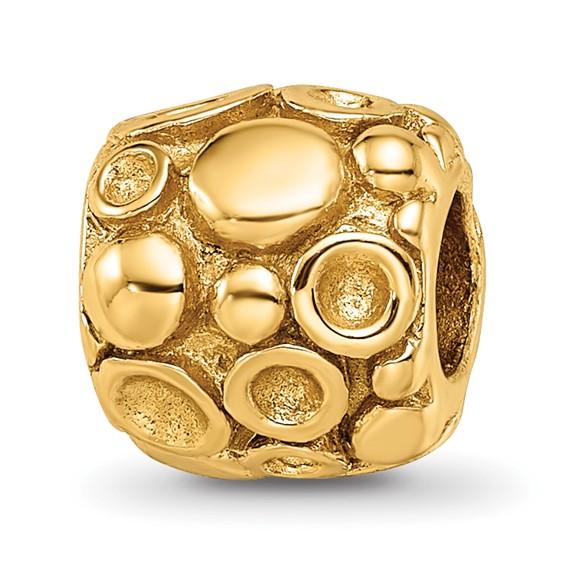 Sterling Silver Gold-plated Reflections Dots Mosaic Bali Bead