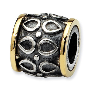 Sterling Silver & 14kt Gold Reflections Barrel Bead