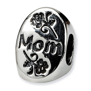 Sterling Silver Reflections #1 Mom Trilogy Oval Bead