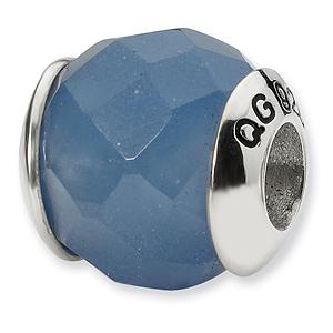 Sterling Silver Reflections Blue Quartz Stone Bead