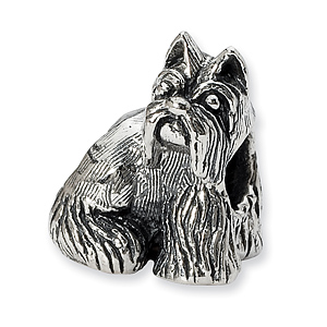 Sterling Silver Reflections Miniature Schnauzer Bead