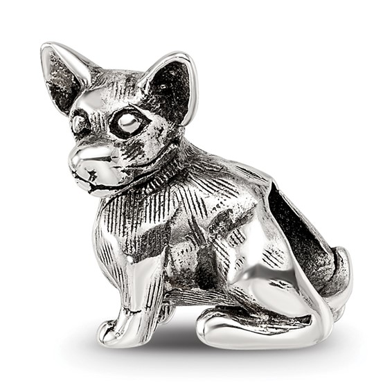 Sterling Silver Reflections Chihuahua Bead