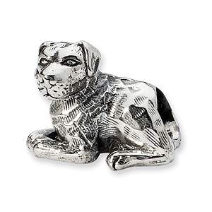 Sterling Silver Reflections Rottweiler Bead