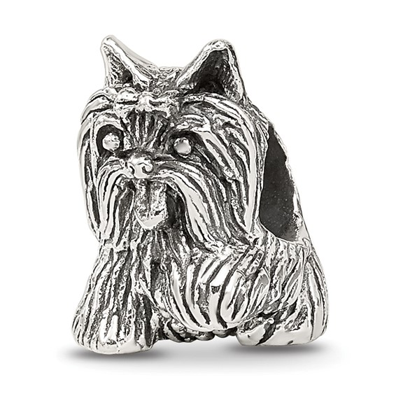 Sterling Silver Reflections Playful Yorkshire Terrier Bead