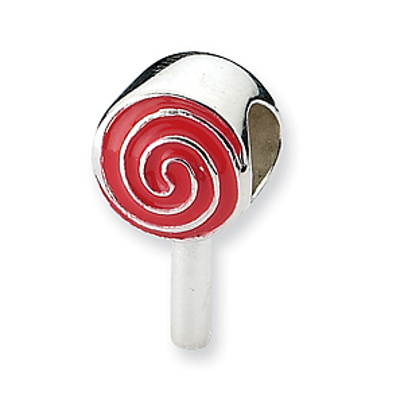 Sterling Silver Reflections Enameled Lollipop Bead