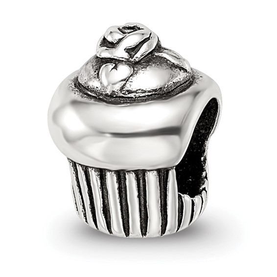 Sterling Silver Reflections Cupcake Bead