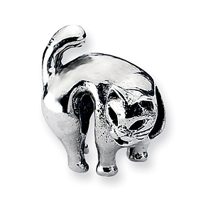 Sterling Silver Reflections Scary Cat Bead