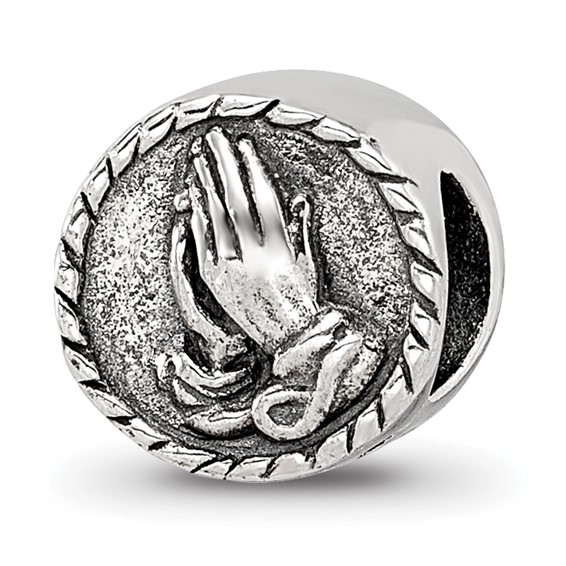 Sterling Silver Reflections Praying Hands Bead