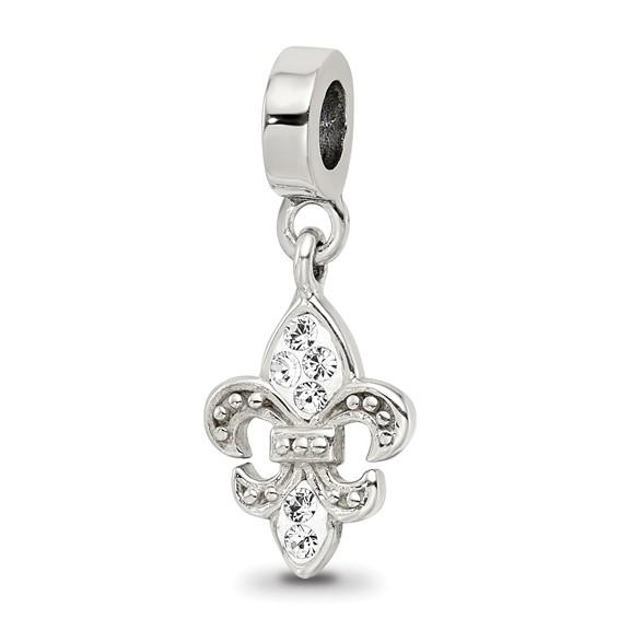 Sterling Silver Reflections Fleur De Lis Bead