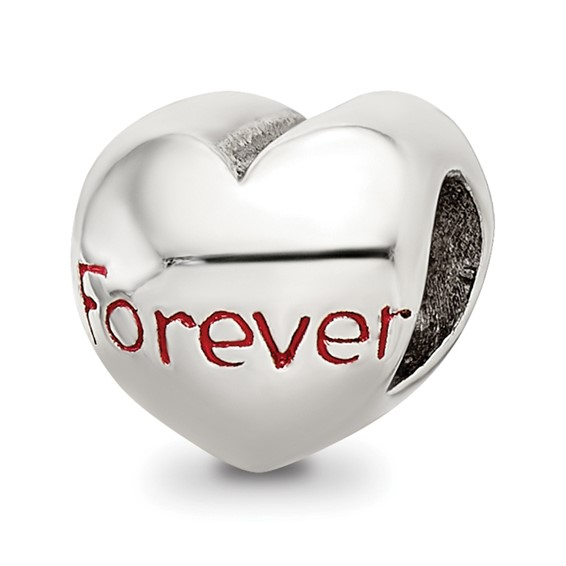Sterling Silver Reflections Forever Heart Bead