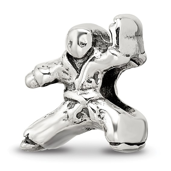 Sterling Silver Reflections Karate Person Bead