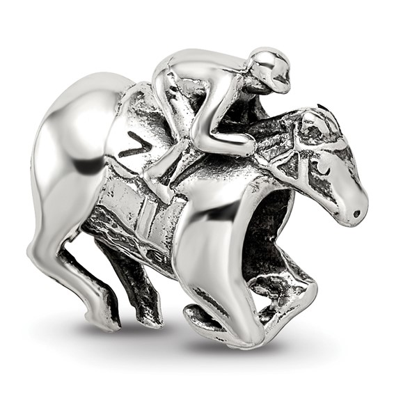 Sterling Silver Reflections Race Horse Bead