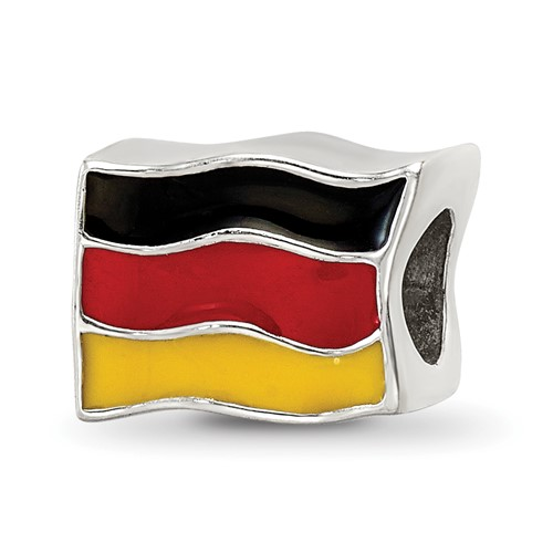 Sterling Silver Reflections Germany Flag Bead