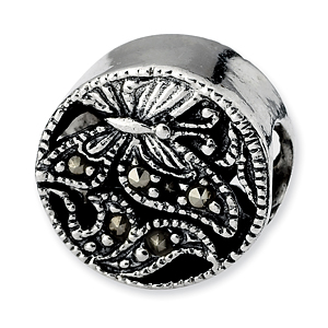 Sterling Silver Reflections Marcasite Butterfly Bead