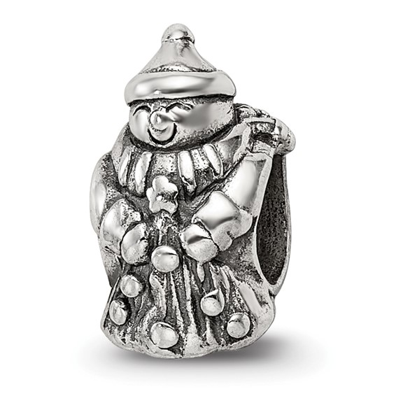 Sterling Silver Reflections Snowman Bead with Scarf