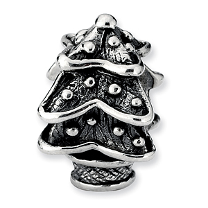 Sterling Silver Reflections Christmas Tree Bead