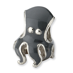 Sterling Silver Reflections Enameled Octopus Bead