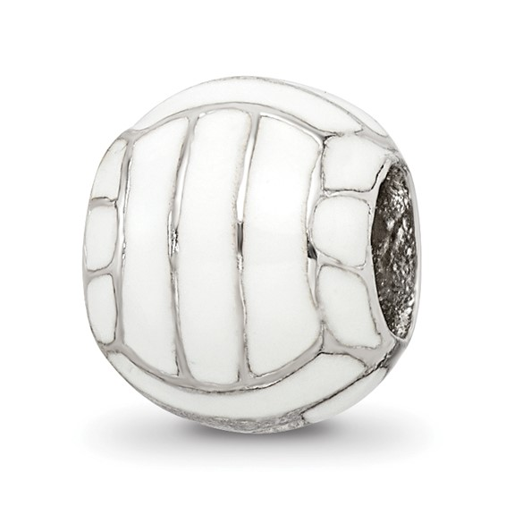 Sterling Silver Reflections Enameled Volleyball Bead