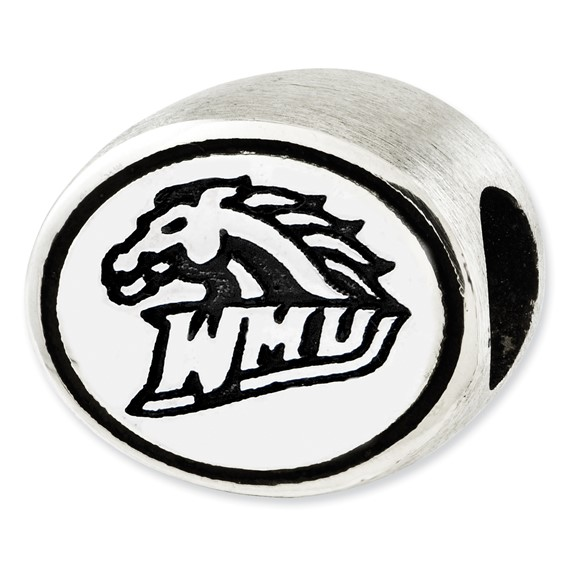 Sterling Silver Western Michigan University Bead