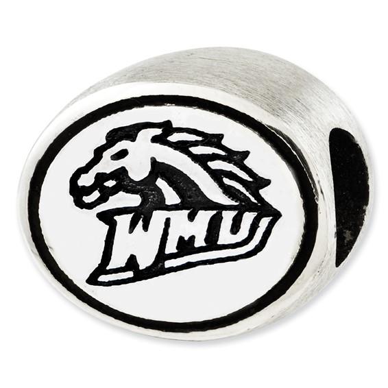 Sterling Silver Western Michigan University Bead