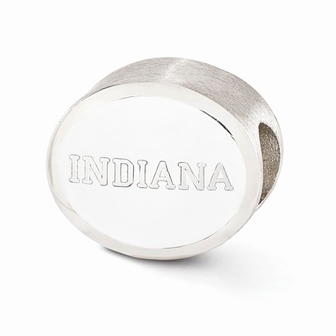 Sterling Silver Enameled Indiana University Bead
