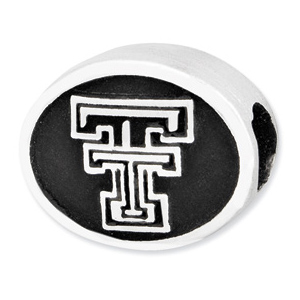 Sterling Silver Texas Tech Red Raiders Bead