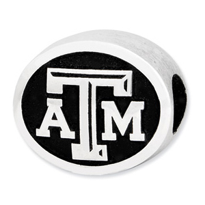 Sterling Silver Texas A&M University Bead