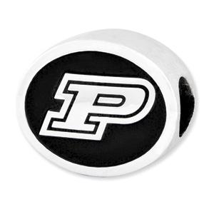 Sterling Silver Purdue University Charm Bead