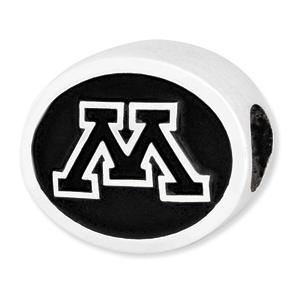 Sterling Silver University of Minnesota Bead
