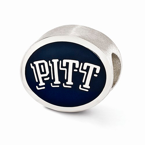 Sterling Silver Enameled University of Pittsburgh Bead