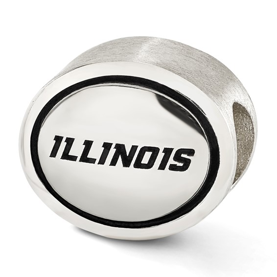 Sterling Silver University of Illinois Bead