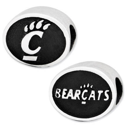 Sterling Silver University of Cincinnati Bearcats Bead