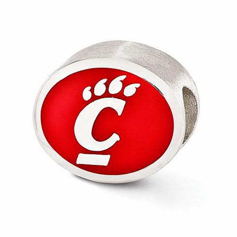 Sterling Silver Enameled University of Cincinnati Bead
