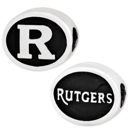 Sterling Silver Rutgers University Scarlet Knights Bead